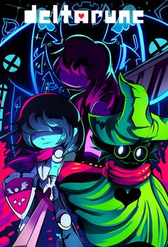 'Deltarune - Friends' Poster by Bigcoin Undertale Game, Anime Undertale, Friends Poster, Toby Fox, Fan Art, Bendy And The Ink Machine, Video Game Art, Indie Games, Geek Stuff