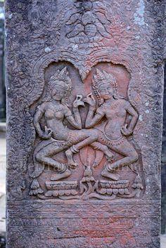 Angkor carving . Cambodia