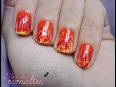 Unhas de foto: aprenda a fazer http://vilamulher.com.br/beleza/corpo/unhas-de-fogo-passo-a-passo-2-1-13-1211-e-51.html #unhas #nails #unhasdecoradas #nailart
