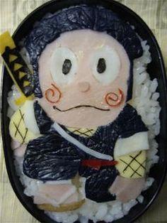 ninja bento - retro character: Ninja Hattori-kun from the 80s