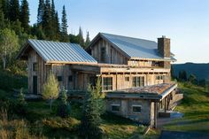 Beautiful wooden home in Steamboat Springs, Colorado. Design by Robert Hawkins Architects. Features Warmboard radiant heating.