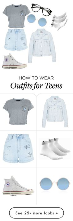 """"" by xpipesx on Polyvore featuring New Look, Sunday Somewhere, Acne Studios, adidas, Converse, denimjackets and WardrobeStaples"