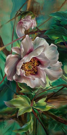 Acrylic Flowers, Watercolor Flowers, Watercolor Paintings, Floral Drawing, Arte Floral, Flower Wallpaper, Art Paintings, Painting Inspiration, Flower Art