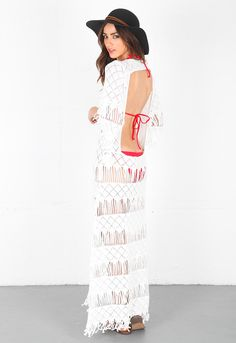 6ba9affdbaad 169.00 Nightcap Clothing Long Fringe ... The perfect beach cover-up, this