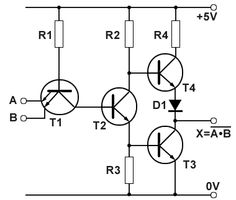 Typical TTL NAND gate schematic