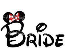 Bride Minnie Mouse Mickey Wedding DIY you by FantasylandPrintable, $5.00