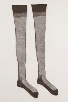 The Met - Stockings, c. 1930 - fishnet with seams and decorative welt