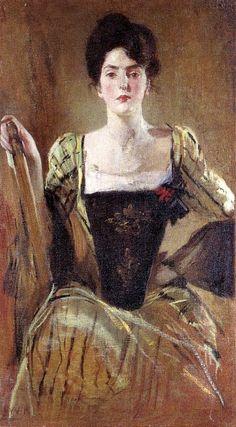 John White Alexander, The Green Gown