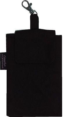 Miehelle valmistettu mustasta puuvillasta  kännykkäpussi, koko sopii hyvin uusimmille älypuhelimille (Nokia Lumia 920, Samsung Galaxy S III jne.)    http://www.cosecha.fi/page/14/mittatilaustyot