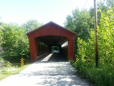 Lancaster covered bridge, located in Carroll County, Indiana