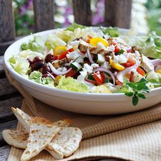 Greek Chicken Salad.  LOVE greek salad!