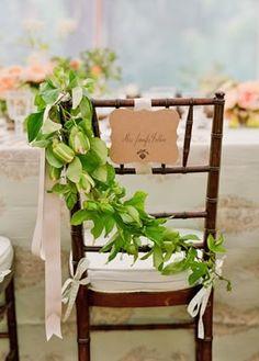 chair, ribbon , leaves, decorations, flowers, brown, decor, escort card, romantic , classic, elegant, whimsical-bright, weddi, Durango, California