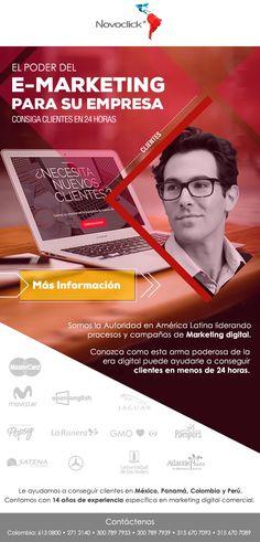 #NOVOCLICK esta con #E-Marketing #ConsigaClientesParaSuEmpresa Marketing Digital, Movies, Movie Posters, Films, Film Poster, Cinema, Movie, Film, Movie Quotes