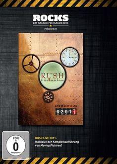 """DVD dei #Rush intitolato """"Time machine (Rocks Edition)""""."""