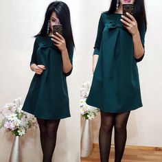 Cute Bow-knot Loose Straight Summer Dress  Women Fashion Beach Style Dress Solid Color Half Sleeve Dresses Plus Size