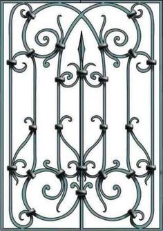Ideas For Exterior Doors Iron Window Wrought Iron Gate Designs, Wrought Iron Garden Gates, Wrought Iron Decor, Iron Window Grill, Window Grill Design, Iron Windows, Iron Doors, Metal Drawing, Metal Art