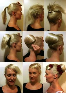 Fantastic 1000 Images About Pin Up Hair Styles On Pinterest The Bun Hairstyles For Men Maxibearus