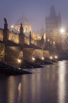 Czech Republic, Prague, Charles Bridge by Andrej Kunka / Places To Travel, Places To See, Wonderful Places, Beautiful Places, Places Around The World, Around The Worlds, Prague Charles Bridge, Pont Charles, Beau Site
