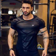 Black Bodybuilding Fitness Gorilla Wear Detroit T-Shirt