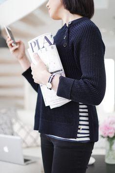 filippa k cotton mix slit pullover | lisbet e.