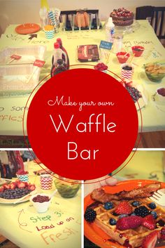 Waffle Bar Birthday Party - A deliciously fun party idea! #WaffleBar #Party | The Shady Lane