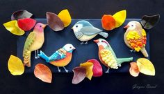 Gingerbread birds in fall