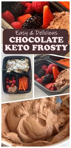 Super Simple Chocolate Dessert that is low carb and quick to make. This is the best keto dessert recipe. Keto Chocolate Frosty is tested and tried to perfection. This no bake ketogenic friendly dessert will be your go to dessert recipe. See how easy it is with step by step instructions on Listotic. Low Carb Desserts, Low Carb Recipes, Dessert Recipes, Cooking Recipes, Diet Recipes, Lunch Recipes, Paleo Meals, Diet Meals, Soup Recipes