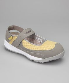 Take a look at this Gray & Pale Yellow Scamper Mesh Shoe by Propét on #zulily today!
