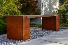 Gartenbank Cortenstahl Esche von design@garten