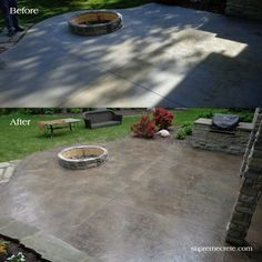 39 Best Decorative Concrete Patios Images In 2020