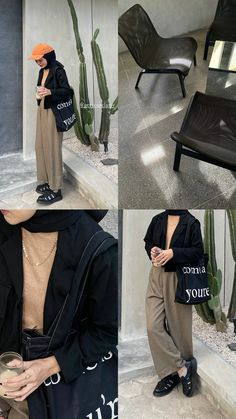 Basic Outfits, Modest Outfits, Simple Outfits, Pretty Outfits, Casual Outfits, Street Hijab Fashion, Muslim Fashion, Ootd Summer Casual, Look Fashion