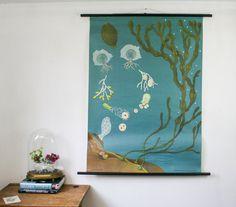 Genuine Vintage School Chart Seaweed by BonnieandBell on Etsy, £160.00