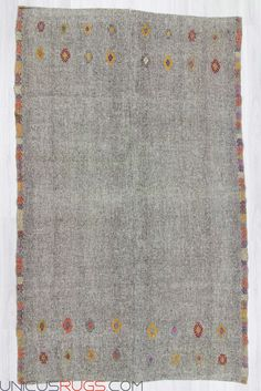 """Vintage large grey rug from Adana region of Turkey. In very good condition. Approximately 50-60 years old. Width: 8' 4"""" - Length: 13' 5"""" Modern and Decorative Kilims"""