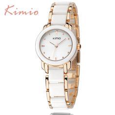 Kimio luxury Fashion Womens watches quartz watch bracelet wristwatches stainless steel bracelet women watches with Gift Box