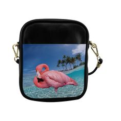 Flamingo and Palms Sling Bag (Model 1627)