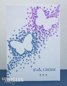 Karten-Kunst » Watte-Schmetterlinge