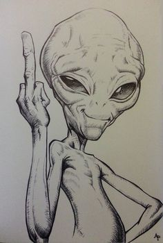 12 Alien-Bleistiftzeichnungen The Effective Pictures We Offer You About crayons para Alien Drawings, Pencil Art Drawings, Art Drawings Sketches, Sketch Art, Cartoon Drawings, Cool Drawings, Fairy Sketch, Zombie Drawings, Funny Sketches