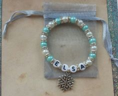 Frozen Inspired Jewellery ~ Personalised Bracelet ~ Queen Elsa ~ Disney Princess