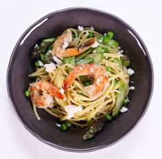 Try Mɪᴄʜᴀᴇʟ Sʏᴍᴏɴ's Shrimp and Spring Vegetable Pasta, if you are tired of the same, boring pasta.