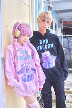 bisuko on the right, I don't know who the girl is tho - - Estilo Goth Pastel, Estilo Lolita, Pastel Goth Fashion, Kawaii Fashion, Lolita Fashion, Cute Fashion, Fashion Outfits, Harajuku Fashion, Japan Fashion
