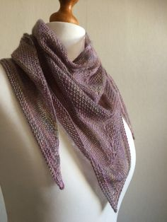 Hand Knitted Merino and Silk Shawl Scarf by Snugglescuddles