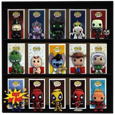 Minifigure Display Case Funko pocket Pops Lego Dust Cover and wall mount