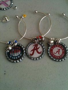 Team Bracelets with helmet and football charm.