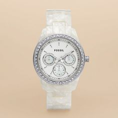 Fossil Stella Resin Watch - Pearlized White **GORG!