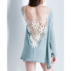 Daisy Crochet Back Long Sleeve Top Long sleeve top with a crochet daisy design at the back. True to size. Brand new. NO TRADES. Bare Anthology Tops Tees - Long Sleeve
