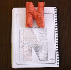 Crochet charts for alphabet letters 😍 Crochet Alphabet Letters, Crochet Letters Pattern, Letter Patterns, Alphabet And Numbers, Crochet Patterns, Applique Patterns, Crochet Diy, Crochet Gratis, Crochet Amigurumi