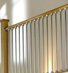 Best Chrome Stair Spindles Rustic Wood Railing At Http 400 x 300
