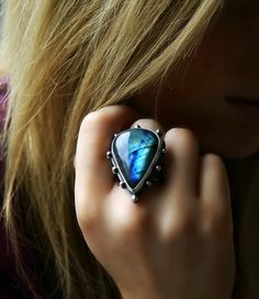RESERVED The Shining Light Labradorite Sterling by MercuryOrchid