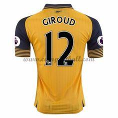 Arsenal Fotballdrakter 2016-17 Olivier Giroud 12 Bortedrakt