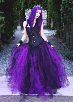 Model: Kuro hana Black Purple Gothic Long Prom Dress